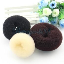 Wholesale face shaper - 20pcs Donut Hair Ring Bun Former Shaper Hair Styler Maker Former Korea Japan Fashion