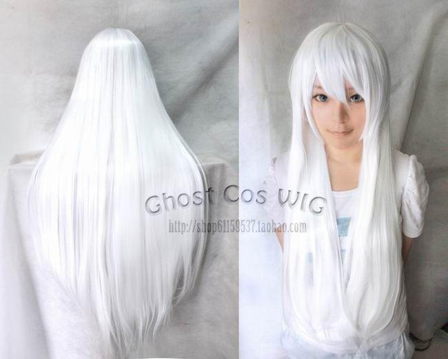 Beautiful Fashion Anime Silver White Straight Cosplay Wig