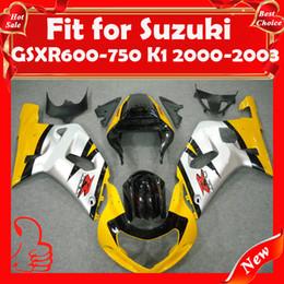 Wholesale Ems Free Fairings - Fairing Kit for SUZUKI GSXR600-750 2000-2003 GSXR 600 750 K1 GSXR600 GSXR750 00-03 GSX R600 -750 2000 2001 2002 2003 EMS Free Ship