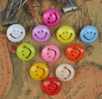 Wholesale Girl Scrapbooks - 300pc mix lot 15mm Baby smiling face resin Button,lovely baby's girls DIY doll appliques sewing scrapbook Cardmaking.Clothing design