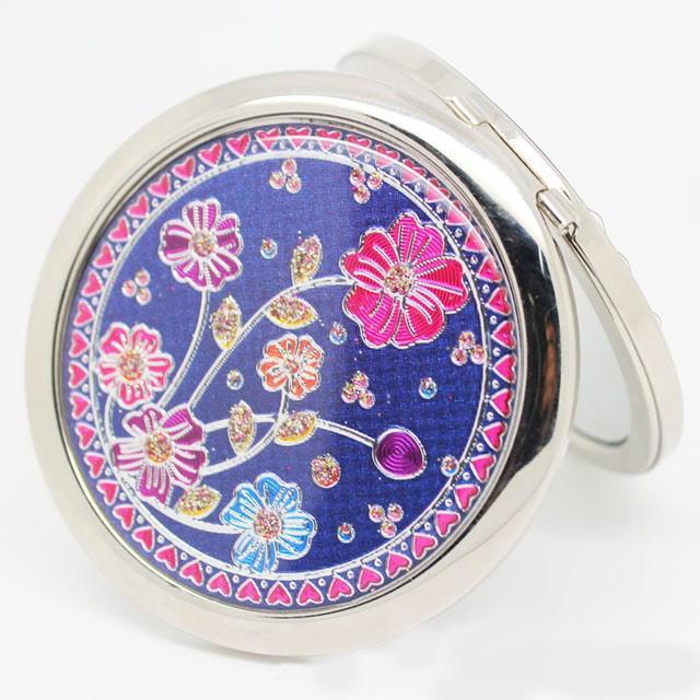 Farbe Blume Shell Kompakter Spiegel Doppelseitiger Runder Taschenspiegel Romantische Schönheit Bevorzugt MINI Spiegel für Damen und Mädchen 10 teile / los