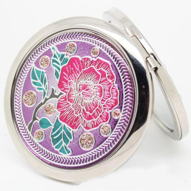 Specchio cosmetico compatto del fiore di colore Specchio compatto cosmetico del fiore Ingrandisci Specchio da tasca pieghevole del doppio lato Donne Make Up Accessori