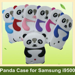 Wholesale Galaxy S4 Animal Cases - Wholesale Chinese treasure Panda Pattern Case for S4 i9500 Soft Animal Cover Case for Samsung Galaxy S4 i9500 10pcs lot Free Shipping