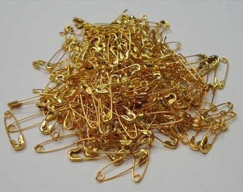 Gold metal Safety pin Locking Baby Cloth Nappy Diaper Craft Pins needle 20mm a