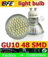 Wholesale Smd 3528 Bulb - LED Spot light IP44 5W 250LM 3528 SMD 48 leds LED Bulb Lamp Light Spotlight E27 GU5.3 MR16 GU10 on sales 110-240V