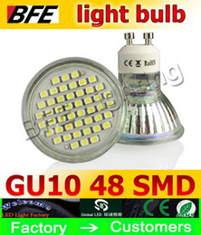 Wholesale White Lamps Sale - LED Spot light IP44 5W 250LM 3528 SMD 48 leds LED Bulb Lamp Light Spotlight E27 GU5.3 MR16 GU10 on sales 110-240V