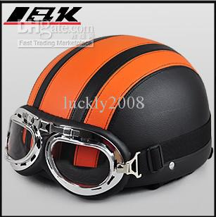 Oranje Zwarte Zomer Half Gezichtshelm, Dames Elektrische Power Winkelwagen Armet Shield Sun Motorcycle Relm, Mix Kleur