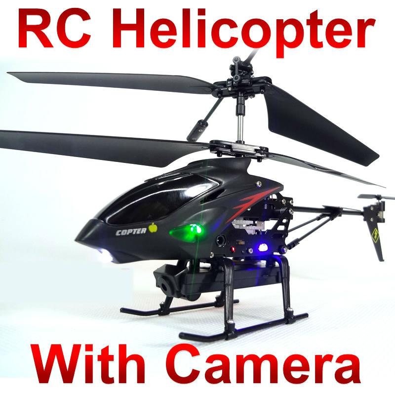 wl S977 3.5 Ch Radio Control Metal Gyro Rc Helicopter With Camera ...