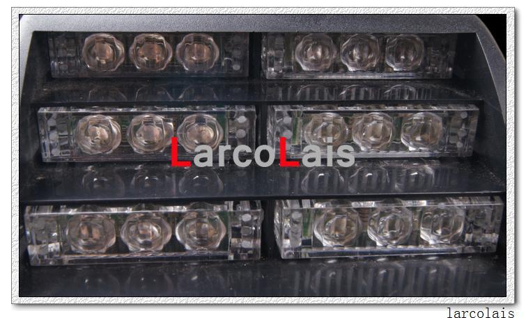 Larclais 18 LED Strobe Lights z przyssawkami Fireman Flashing Emergency Security Car Carrus Light