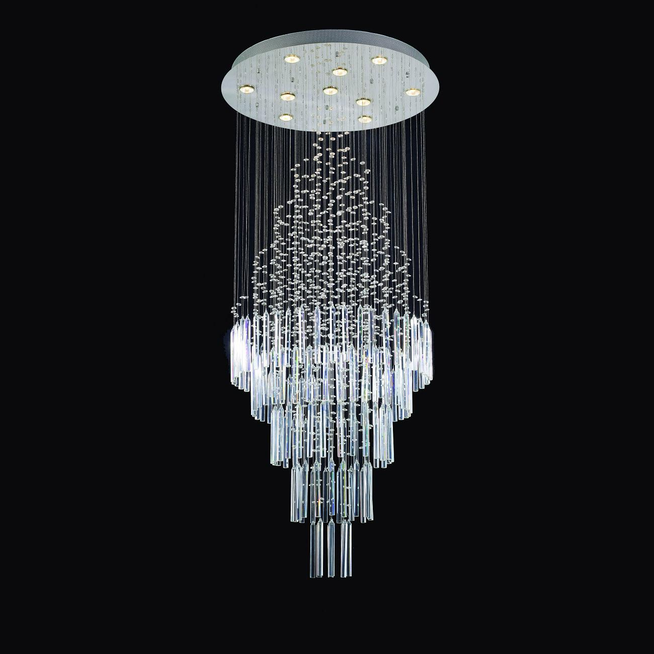 Nice 2018 Modern Circle Hanging Wire Led Crystal Lamp From Auergle, $1081.69 |  Dhgate.Com