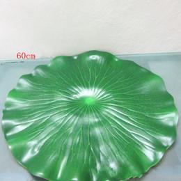 60 cm di diametro Simulazione artificiale Verde foglia di loto Acqua decorativa Acquario Stagno Scenario Piscina galleggiante Decorazione 10 pezzi da