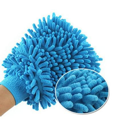 Atacado / Auto Mitt frete grátis microfibra Chenille Car Wash Glove Prvate Household pano de limpeza Single-Sided