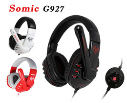 Wholesale Usb Gaming Headset Mic - Somic G927 7.1 Sound Effect Gaming Headset Stereo Headphone Powerful Bass Earphone With MIC Free Shipping