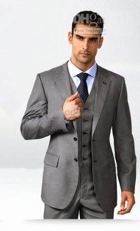 Grey Suits 2016 Brand New Groom Tuxedos Wedding Bridegroom/Groomsman ...