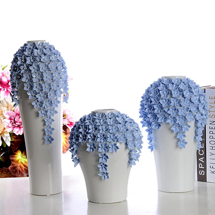 Hot Selling Home Decoration Handmade Ceramic Flower Vase Wedding Gift Porcelain Vase Porcelain