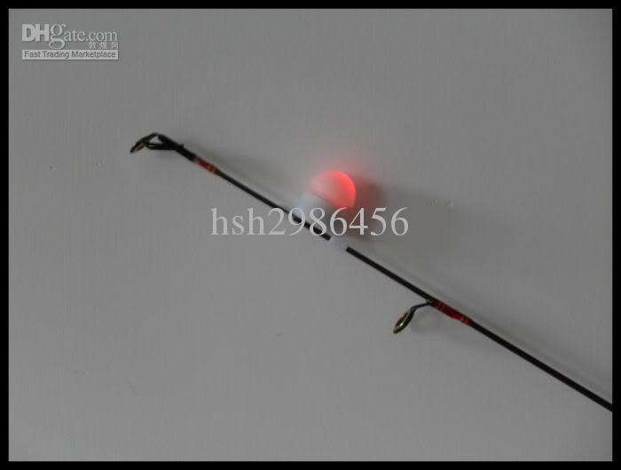 Nacht Hengel Tip Clip op Fish Bite Alarm Strike Alert LED-licht