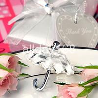 Wholesale Umbrella Party Favors - Unique Wedding Favors crystal umbrella wedding decoration of crystal gift of umbrella crystal Decoration for free shipping