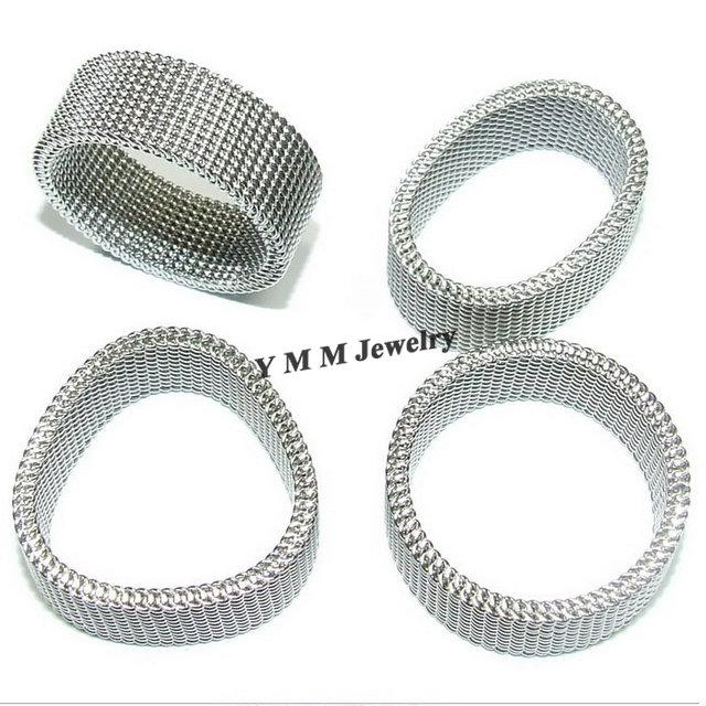 L'anello di barretta netto dell'acciaio inossidabile degli anelli dell'acciaio di titanio di 8mm Netlike libera il trasporto