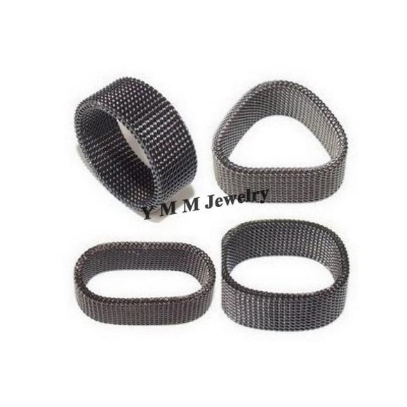 Anéis de aço titanium de Netlike do tamanho da mistura altura variável / da forma 8mm