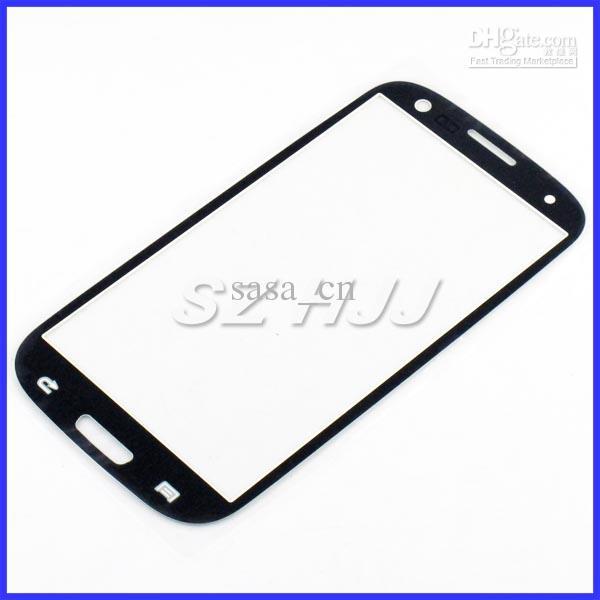 ل i9300 Glass Digitizer Cover استبدال زجاج الشاشة عدسة لسامسونج غالاكسي S3 I9300 أبيض وأسود