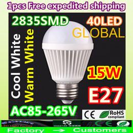 Wholesale 15w Led Bubble Bulb - Bubble Ball Bulb AC85-265V 6W 9W 12W 15W E27 High power Energy Saving LED Light Bulbs Lamp 2835SMD 40 leds Warm Cool White Globe on sales