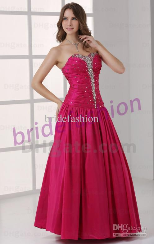Hot Item!!2013 New Hot Item High Quality Strapless A-line Sequin Crystal Ruffle Beads Custom Made Satin Prom Evening Dress