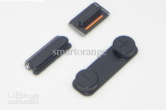 Black Volume Side Silent Mute Switch Power Knop voor iPhone 5 5G