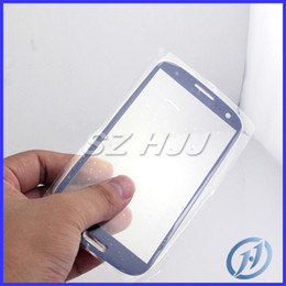 Wholesale Galaxy S3 Outer Screen Replacement - Galaxy S3 Pebble Blue Front Glass Lens Glass Digitizer Cover Outer Screen Cover Replacement for Samsung Galaxy S3 I9300