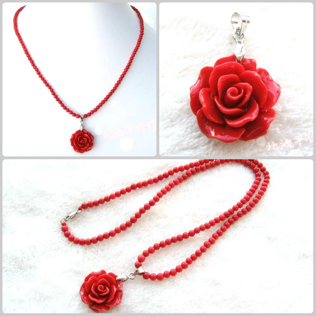 b pendant oblong red heart semi stone precious necklaces jewelry pendants coral design