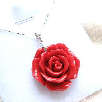 product rose pendant red bracelets necklaces lucky wholesale charm year coral from necklace mushan flower animal
