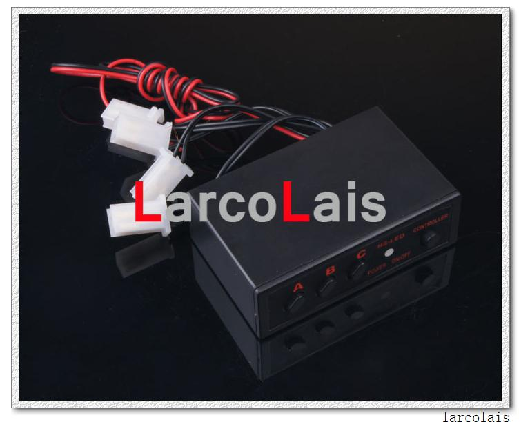 Amber 4x3 LED Strobe Flash Warning EMS Car Truck Light Flashing Firemen Lights 4 x 3