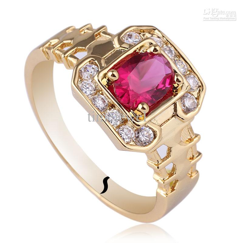 Well known 2018 Jewelry Mens Oval Red Ruby Sterling Silver Ring 925 Man Gfs  HH89