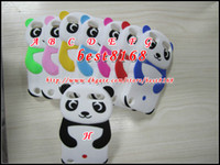 Wholesale Teddy Bear 3d Animal Case - Silicone soft panda bear teddy KongFu cartoon 3D gel case animal cute rubber lovely skin fashion cases for ipod touch 6 6g 6th 5 itouch 5g 5