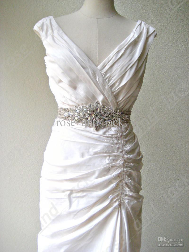 2018 Bridal Wedding Beaded Sash/Belt. Crystal Princess Wedding Dress ...
