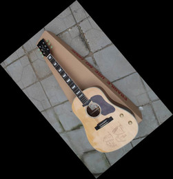 Wholesale Guitar Acoustic Signature - Wholesale - Beatles John Lennon 70th Anniversary signature J-160E natural Solid spruce Acoustic Electric Guitar NR natural wooden 130516