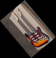 Wholesale Double Neck Guitar Sunburst - NWholesale - New Style Double neck guitar sunburst ST 6 strings & 12 strings electric guitar130516