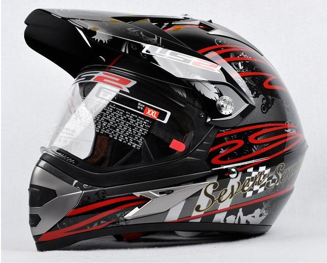LS2 MX433 black red seven sixty dream Motorcycle Off road Helmet full face helmet motocross Moto Racing helmet