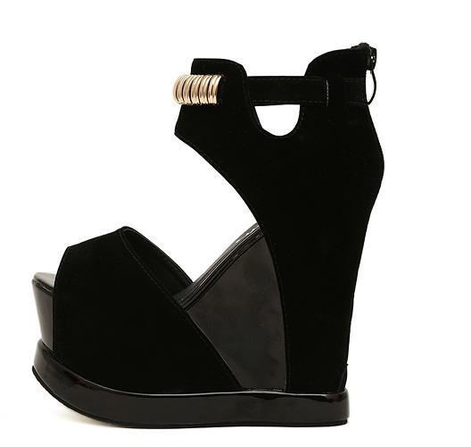 Wholesale Sandals Black With Deep Pink Colorful High Heels ...