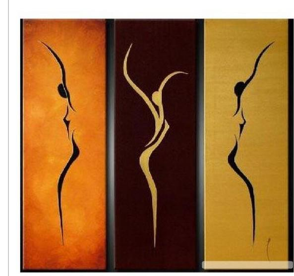 Wall art sport beauty landscape oil painting on canvas for 3 piece painting ideas