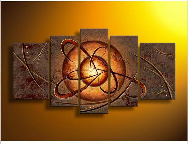 Modern Abstract Wall Art 2017 wall art modern abstract energy brown oil painting on canvas