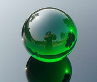bolas de cristales de feng shui al por mayor-60mm Asiático Raro Natural Cuarzo Verde Bola de Curación de Cristal Mágico Esfera + Soporte E111