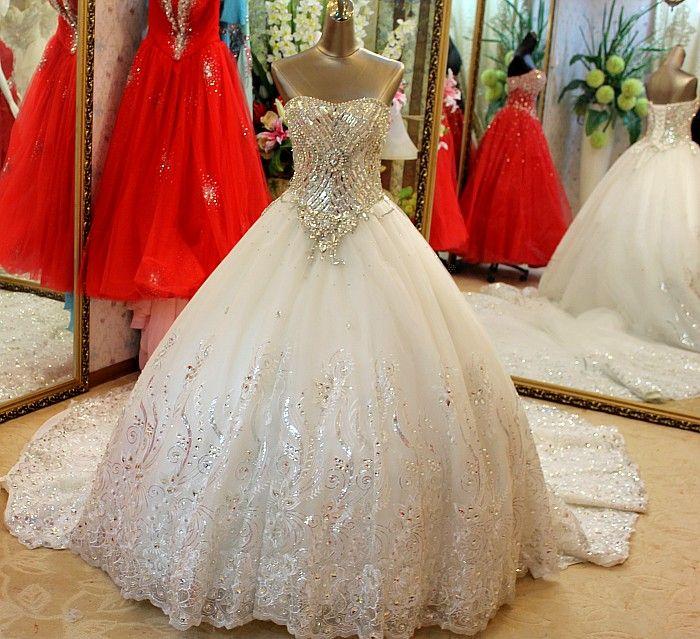 Discount Newest Top Wedding Bridal Dress Strapless Swarovski ...