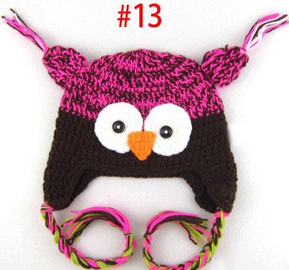 20 stks * uil oor haak cap aap oor haak cap papegaai oor haak cap baby hoed gemengde stijl 18 kleuren