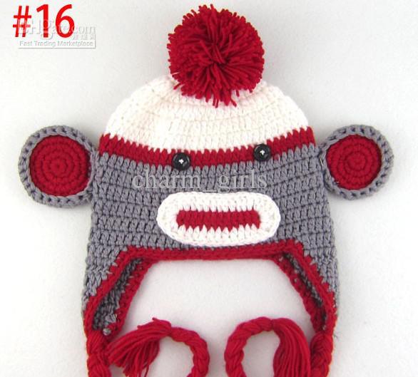 * oreille de hibou casquette crochet oreille de singe capuchon de crochet oreille de perroquet casquette au crochet chapeau de bébé style mixte 18 couleurs