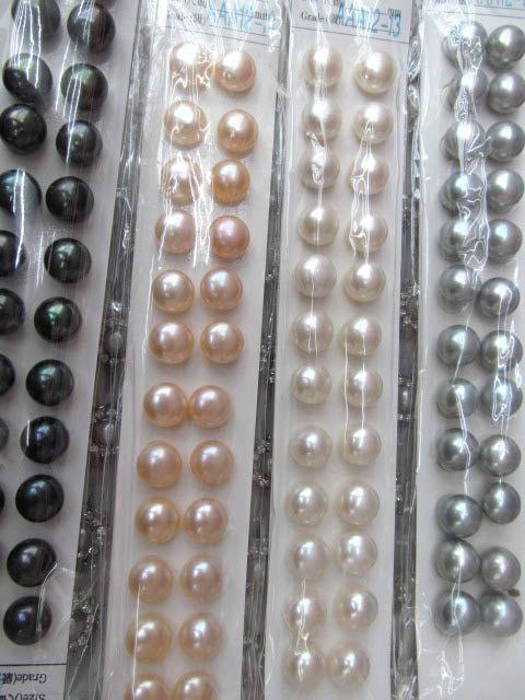 genuina di alta qualità rotonda moneta rotonda rotonda d'acqua dolce bianco rosa champange nero misto perline focale 6-7mm