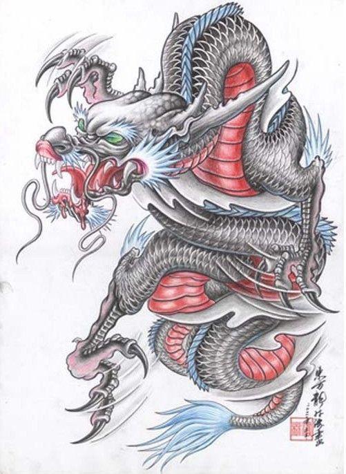 Татуировка дракон - значение, эскизы тату и фото
