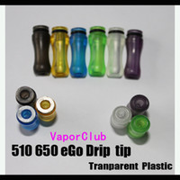 Wholesale Electronics World - Cheapest 510 - eGo Clear Transparent ecig drip tips 100pcs FREE SHIPPING World Wide