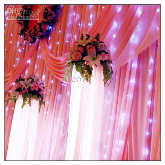 Free Shipping Outdoor 300 LED 3M * 3M Curtain Lights Holiday Christmas Xmas Wedding Decorations Party New Year's Wall String Fairy LightL101