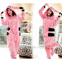 Wholesale Pink Cute Funny Lovely Kawaii Pikachu Kigurumi Pajama Party Cosplay Costume S M L XL