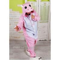 Wholesale Kigurumi Hippo - Lovely Hippo Pink Cartoon Kigurumi Pajama Animal Party Cosplay Costume Pajamas S M L XL
